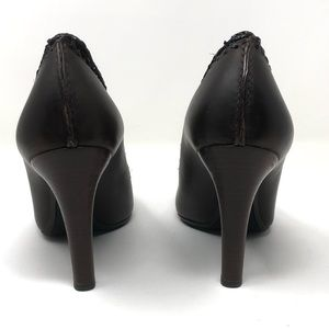 Burberry Shoes - Burberry Brown Pumps Woven Stiletto Heels 39.5